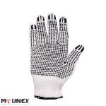 دستکش بافتنی خالدار نخ پنبه دو رو