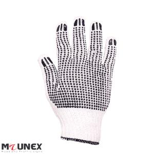 دستکش بافتنی خالدار نخ پنبه